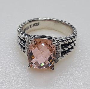 David.Yurman. Ring With Morganite and Diamonds